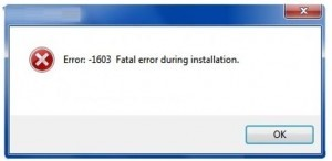 Autocad Error 1603 hatası